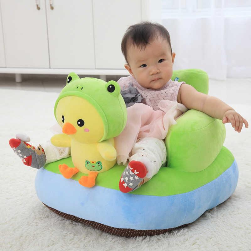 かわいいソフトぬいぐるみベビーシートぬいぐるみ動物のおもちゃ幼児バックサポート学習座る安全ベビーソファ給餌チェアシート子供ギフト