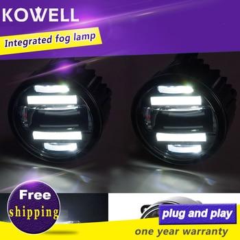 KOWELL Car Styling Fog Lamp for Honda fit crv spirior city  LED DRL Daytime Running Light fog Accessories