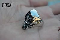 The despair terrorist skeleton ring titanium steel male index finger ring