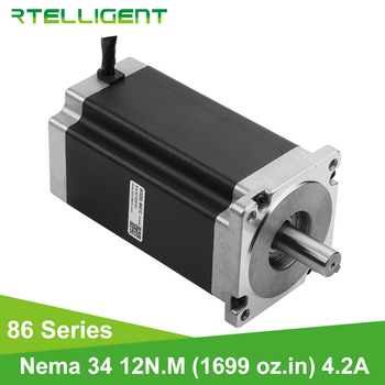 Rtelligent Nema 34 12N.M High Torque Stepper Motor Stepping Motor 0.9/1.8 degree Body Length 156mm Hybrid DC Electric Motor