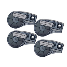 4Pcs  M21-750-499 High Adhesion Cloth Label Tape Black On White Compatible for Brady BMP21 Plus ID Pal and LABPAL Printers