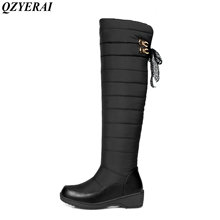 QZYERAI Hot selling winter minus 40 degrees cotton warm snow boots women shoes waterproof female boots