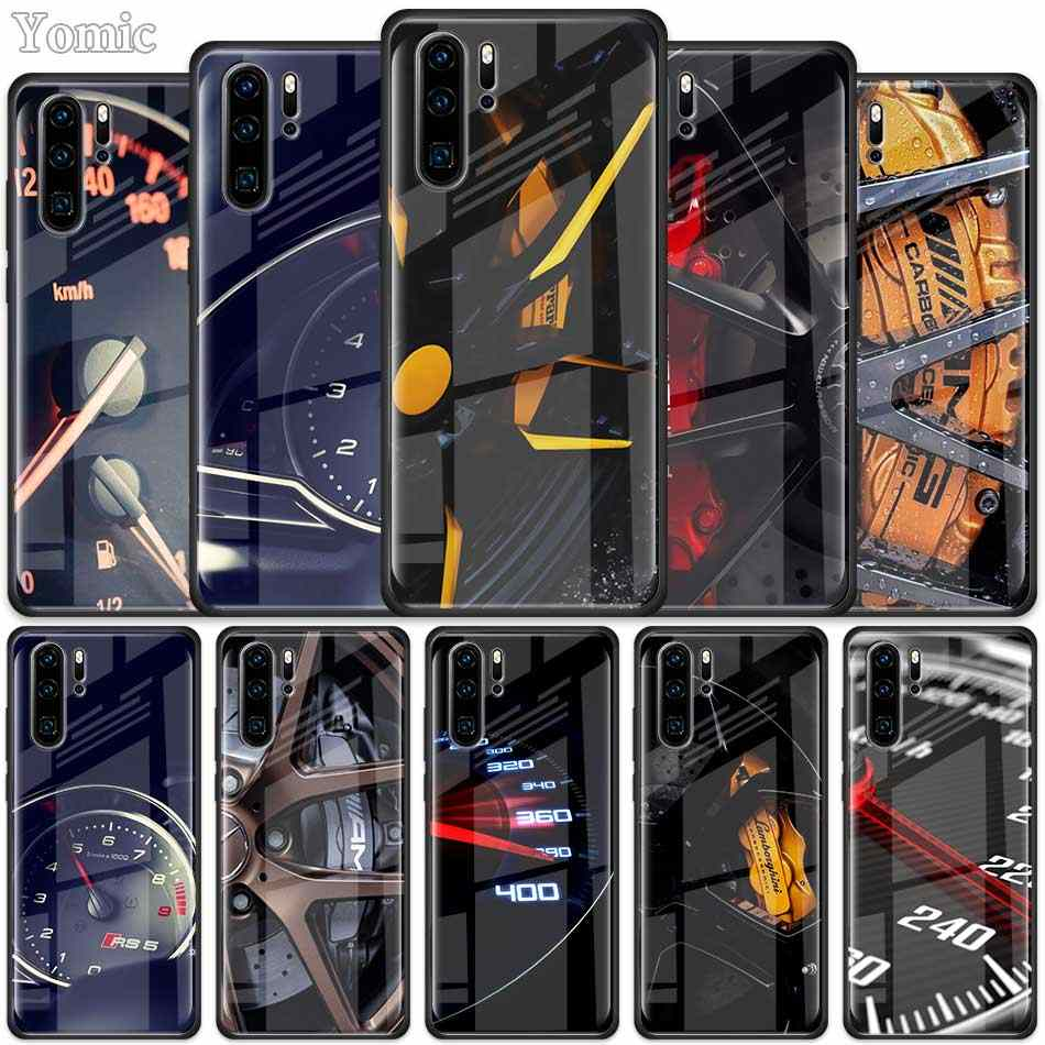 Car Tire Wheel Dashboard Tempered Glass Case for Huawei P30 Pro P10 P20 P30 Lite Mate 10 20 Pro Honor 20 Pro 8X Cover Shell