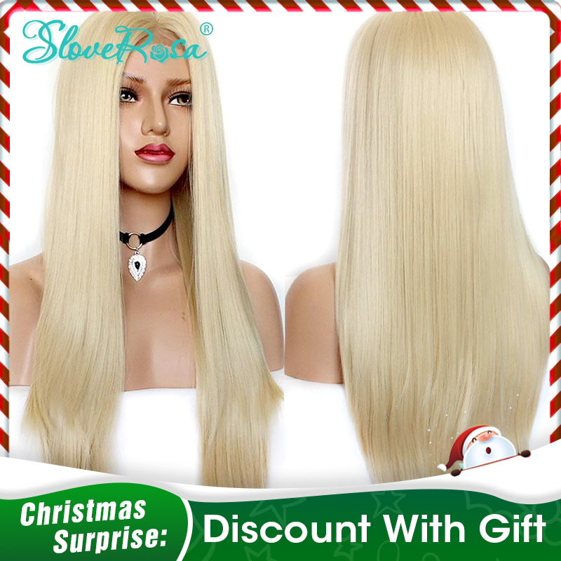 Ombre #613 Blonde Wig Lace Front Human Hair Wigs Brazilian Remy Straight Hair Transparent Lace Pure Blonde Wig Slove Rosa Hair plan