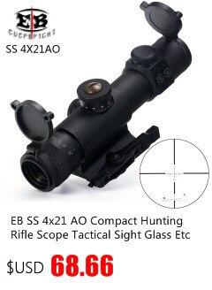 Caça 4-12x44 ao riflescope tático visão óptica