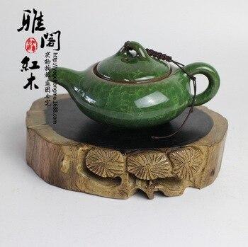 New ebony wood crafts mahogany base Teapot pot mat stone crafts ornaments base