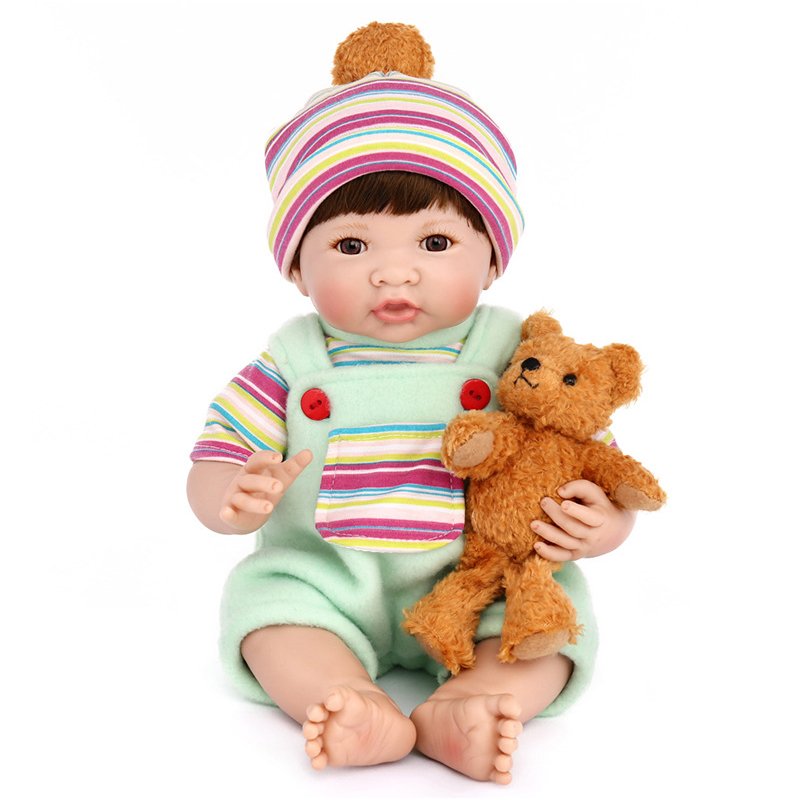 New 35CM Silicone Vinyl Doll Reborn Baby Dolls Girl Toys Soft Body Lifelike Newborn Babies Bonecas Toy Best Gift For Kid Child silicone reborn baby dolls toy lifelike exquisite soft body newborn boys babies doll best birthday gift present collectable doll