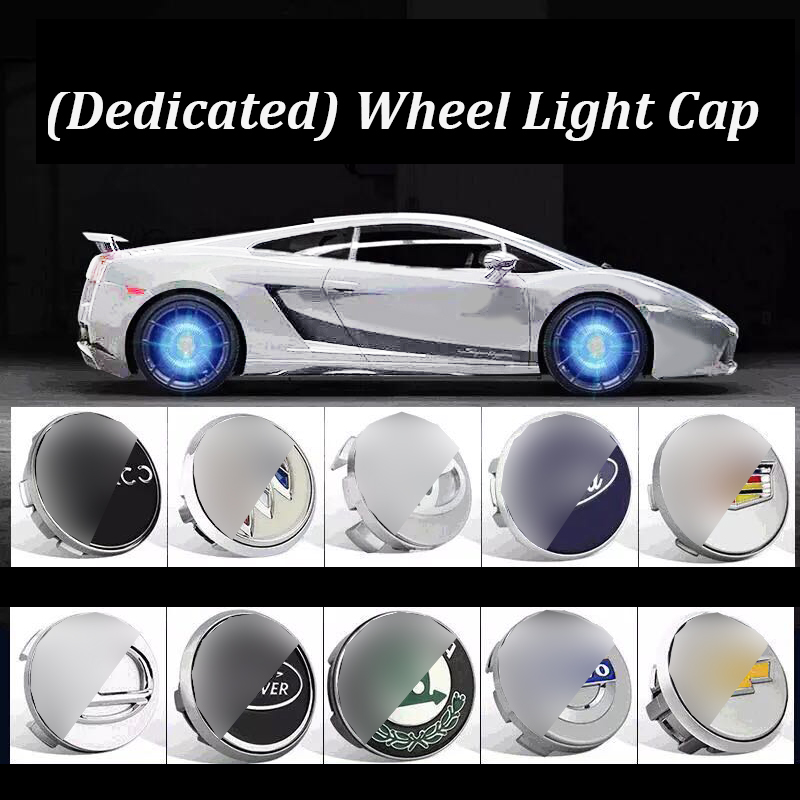 Hub Light 4X Car Wheel Caps Light Floating Illumination LED Light Center Cover Lighting Cap Auto Styling For Auto Car Accessorie-in Decorative Lamp from Automobiles & Motorcycles    1