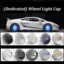 Hub Light 4X Car Wheel Caps Floating Illumination LED Center Cover Lighting Cap Auto Styling For Accessorie