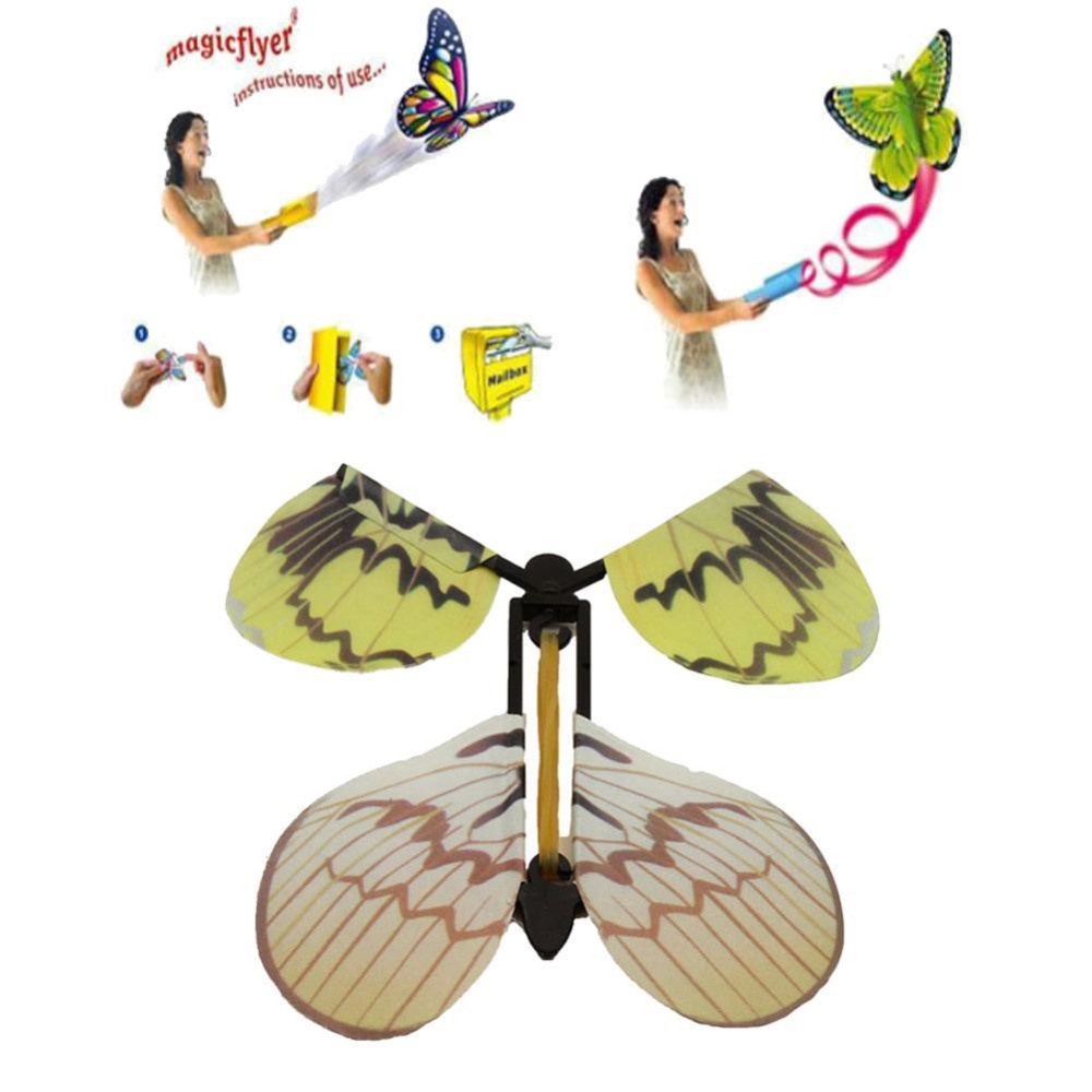 5pcs Magic Toys Hand Transformation Fly Butterfly Magic Tricks Butterflies Novelty Surprise Gift Prank Joke Trick Toys Wholesale