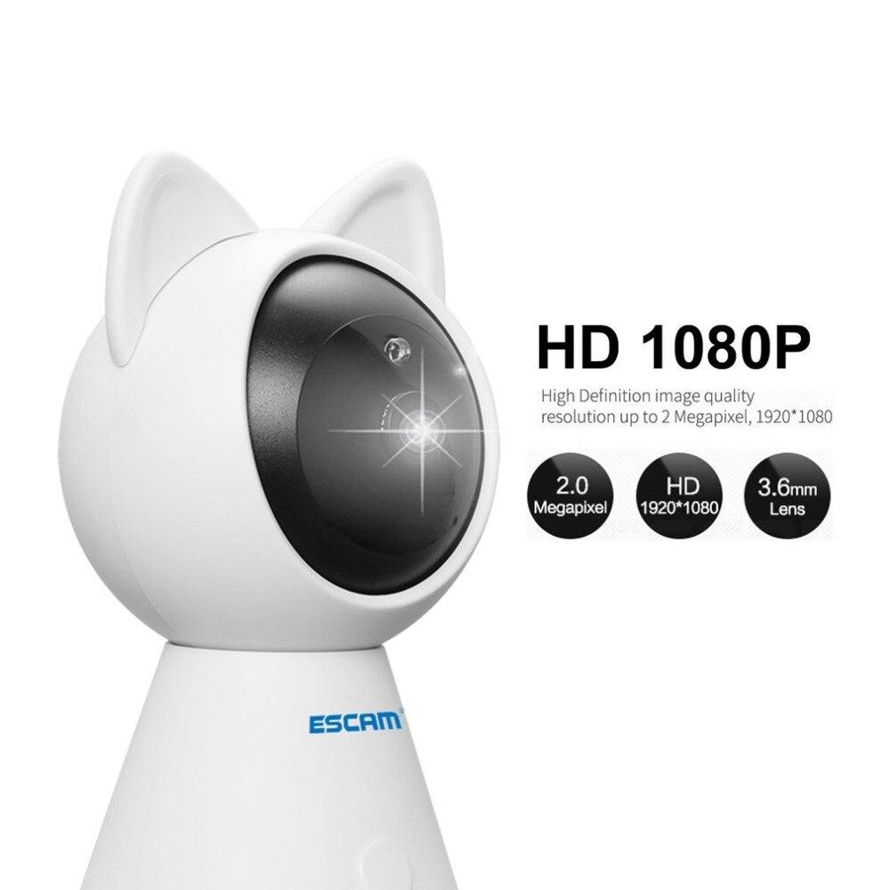 Escam QF509 HD 1080P Pan/Tilt Monitor Wifi IP IR Camera ONVIF Indoor Mini Network Camera Support Motion Detector Max 128G TFCard escam q1039 onvif hd 1080p ip camera