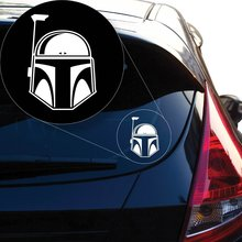 Yoonek Graphics Star Wars Boba Fett Vinyl Decal Sticker # 845 (6 x 4.3, White)