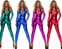 Sheer Bodysuit Sexy Costumes for Women Pole Dance Night Party Clubwear Fantasias Sexy Erotic Latex Catsuit Wetlook Body Suit Hot