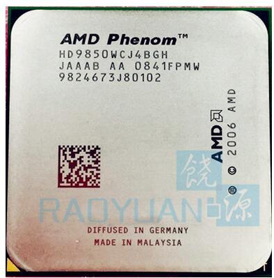 AMD Phenom X4 9850 2 5GHz Quad Core DeskTop CPU HD9850WCJ4BGH HD985BWCJ4BGH 95W Socket AM2 940pin
