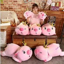 WYZHY Crown Pig Doll Pillow Plush Toy Sofa Decoration Send Friends and Children Gifts 40CM