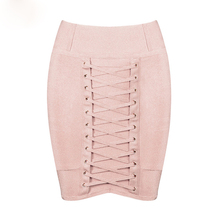 New Women Sexy Short Mini Lace Up Hollow Out pencil Bandage Skirt Fashion Good Elastic Bodycon Sheath Dropshipping MD800