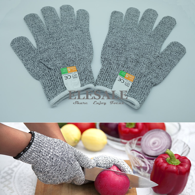 New Kitchen Gloves Level 5 Food Grade Cut-Resistant Work Safety Gloves EN388 CE Approved Hand Protection S/M/L/XL Size alfani new orange tangerine women s size 10 v cut half button pocket blouse $49