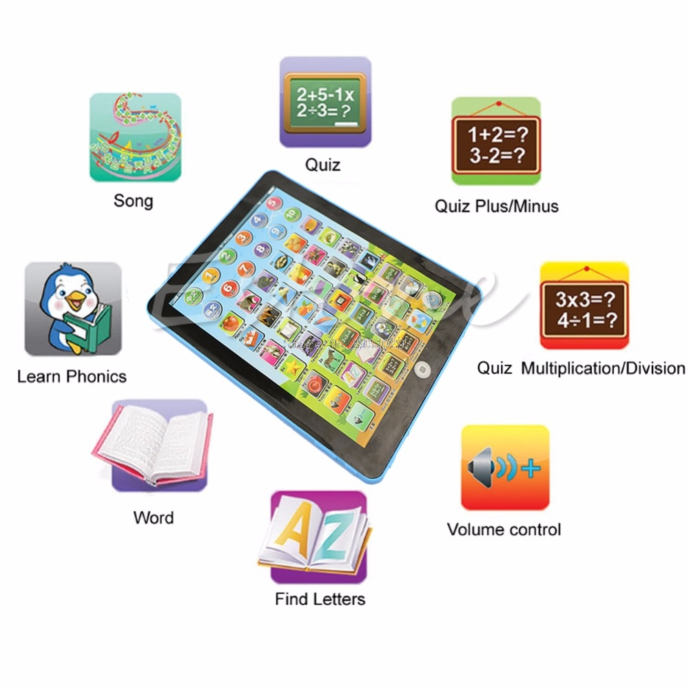 Childrens Educational Electronic Learning Tablet Computer Play Read Gift -B116