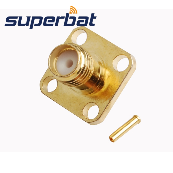 Superbat 10pcs Free Shipping SMA Connector Solder Jack Female Flange RF Connector For Semi-rigid Cable .086'' RG405 Cable