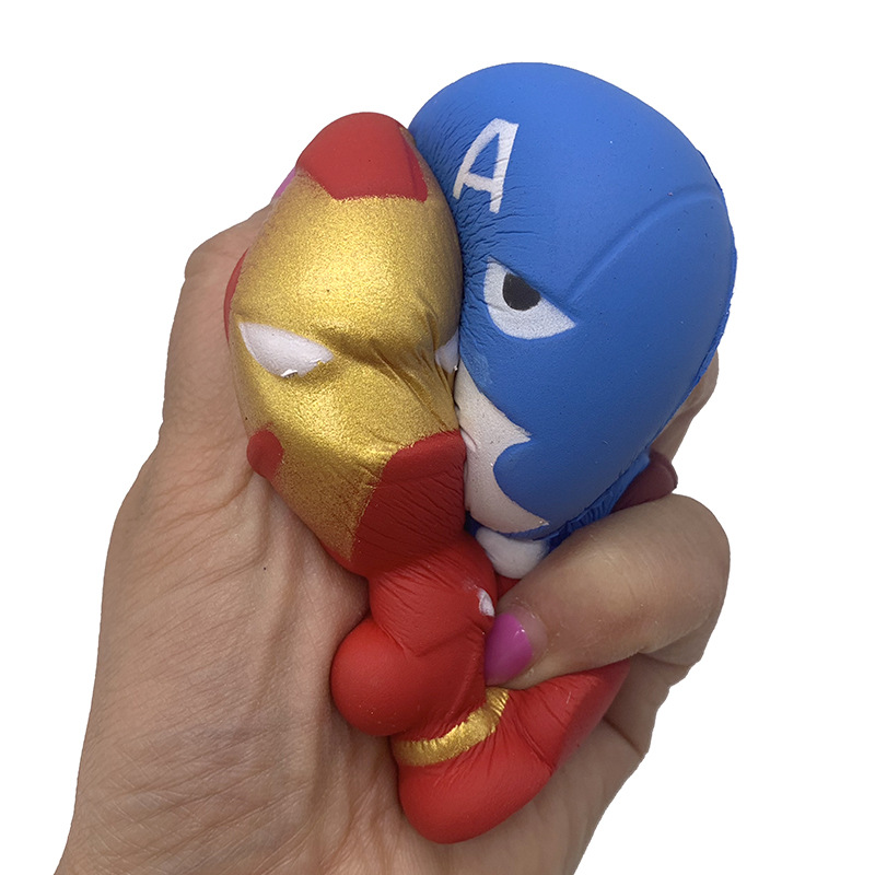 Marvel Squishy Toys Avengers Spider Man Captain America Iron Man Hulk Superman Venom Figure Squeeze Toys For Kids Stress Relief