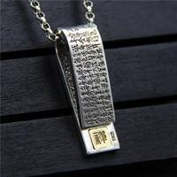 Silverware S925 Sterling Silver Heart Pendant Men Women Necklace Pendant Retro Thai Silver Jewelry Gift