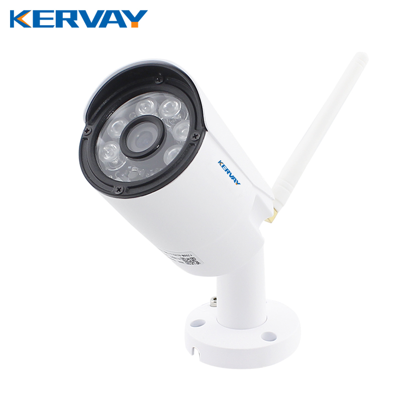 Kervay Wifi IP Camera 720P HD Waterproof Onvif Camera With IR Night Vision Function Outdoor 1.0 MP Wireless Security Camera wifi ipc 720p 1280 720p household camera onvif with allbrand camera free shipping