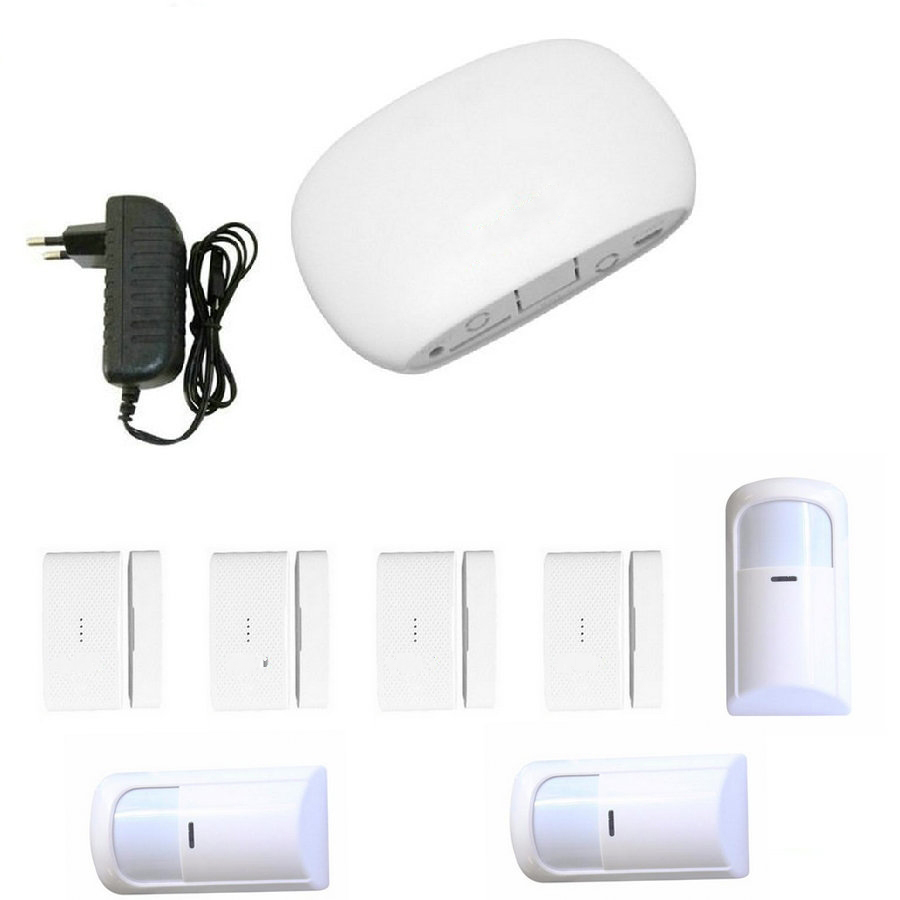 Super Mini WIFI Home Security Alarm System DIY Kit IOSAndroid Smart Phone App PIR Main Panel DoorWindow Sensor Burglar Alarm_2