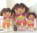 ¡ Venta caliente! Dora suave Felpa/juguete de Peluche con estrella Muñecos de Peluche de Juguete para la muchacha, tiempo aventura juguetes 35 cm 1 unid