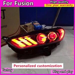 Image 2 - Style de voiture pour Ford Mondeo 2013 2016 phare LED pour nouvelle lampe frontale Fusion clignotant dynamique LED DRL bi xénon HID
