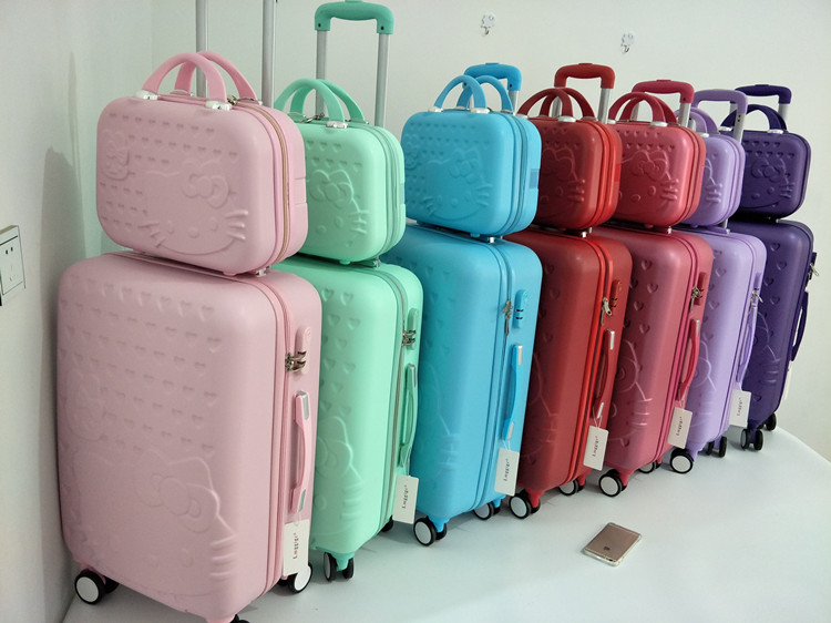 Details about Hello Kitty Suitcase Set Children Women Luggage Travel Bag  Trolley Sanrio NEW e042e90790d7e