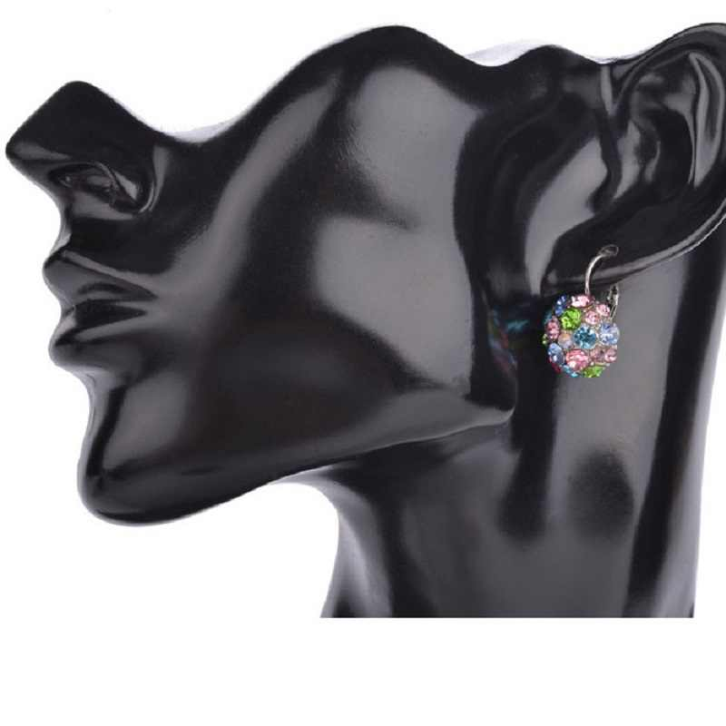 H: HYDE GOLD สีโรแมนติกคริสตัล Hoop ต่างหูแฟชั่นต่างหูผู้หญิงเครื่องประดับ oorbellen
