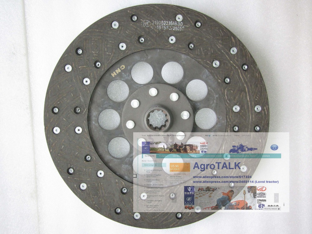 цена Taishan tractor parts, the clutch disc for TS KM1004,KM1204 tractor, part number:1000.21.102 онлайн в 2017 году