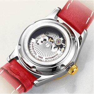 Image 5 - Carnival Women Watches top Luxury Brand ladies Automatic Mechanical Watch Women Sapphire Waterproof relogio feminino reloj mujer