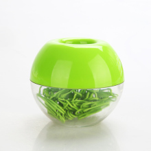 100pcs 28mm Green Paper Clips Kawaii Apple Magnetic Clip Dispenser Paper Clip Holder Bookmark Clips the Office Accessories Gifts