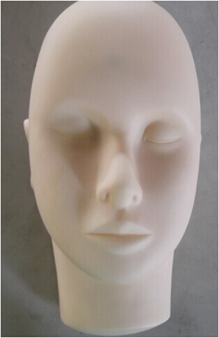 NEW Super Rubber Practice mannequin manikin head for eyelashes extension makeup tattoo Free Shipping