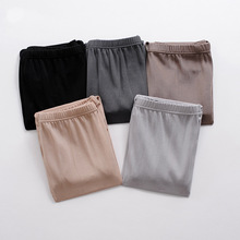 Купить с кэшбэком Man plus size Solid 100% silk briefs Panties male waist 100% Mulberry silk boyshort Briefs men oversized 100%silk underpants D20