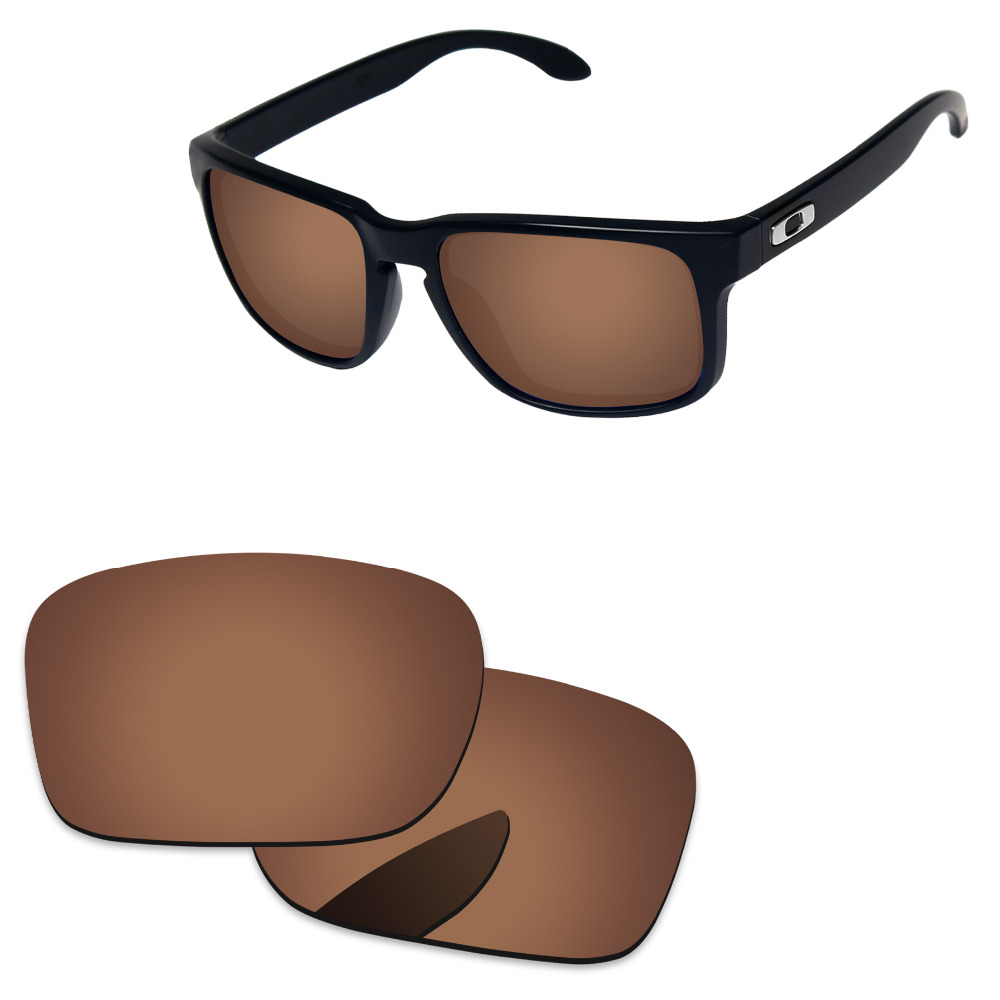 Polycarbonate-Copper Brown Replacement Lenses For Authentic Holbrook Sunglasses Frame 100% UVA & UVB Protection
