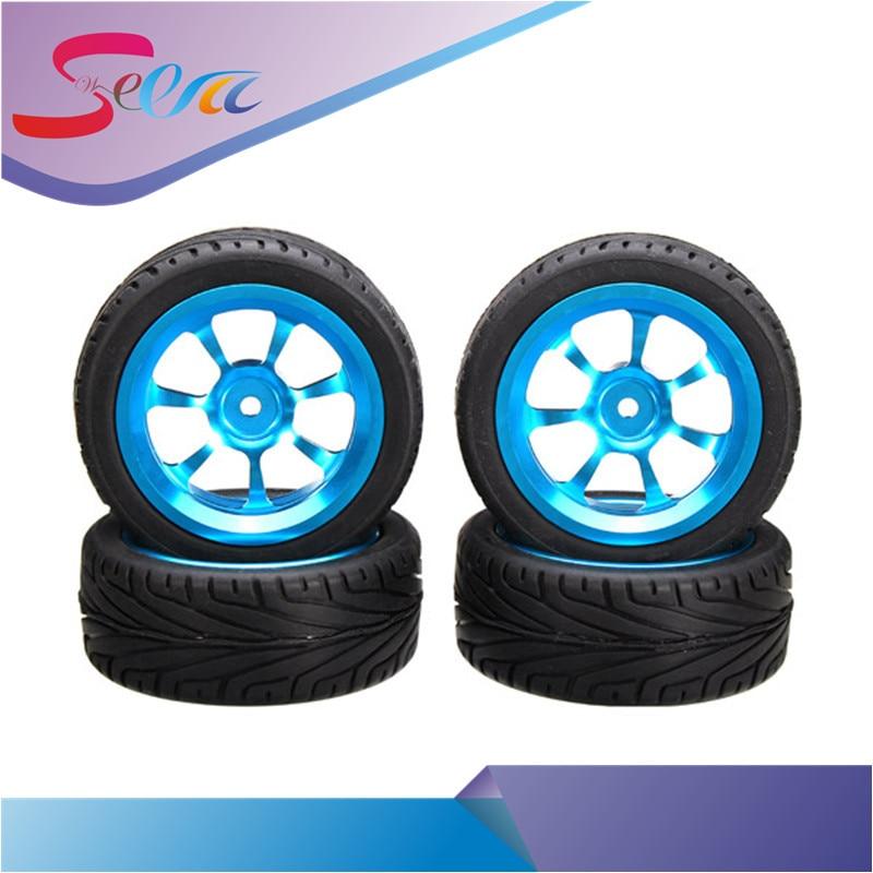 4PCs Rim and Tires For 1/18 WLtoys A959-B A979-B A949 A959 A969 A969 K929 for Rc Car Parts wltoys a959 b 13 540 motor 1 18 a959 b a969 b a979 b rc car part
