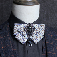 자카드 나비 넥타이 Gravata 신사 셔츠 영국 목 넥타이 Bowknot 다이아몬드 빈티