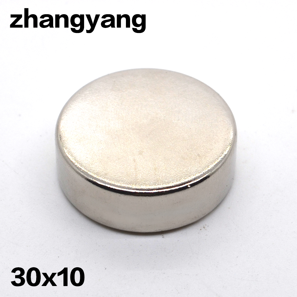 Factory Sell 30PCS 30 x 10 mm N35 Powerful Super Strong Magnet Round Rare Earth Permanent
