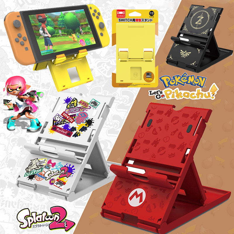 For Nintendo NS Switch Console Splatnoon2 Stand Portable Adjustable Holder SuperMario Bracket Compact Zeldas Playstand Stand