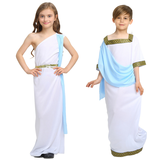 cee072265cb9 Kids Boy Girl Christmas Roman Clothes Prince Princess Ancient Roman  Clothing Halloween Arab Cosplay Costumes for