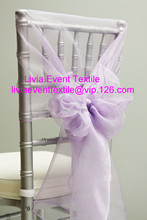 100pcs High Quliaty #21 Lilac Organza Cover Hood  For Wedding Event &Party Decoration