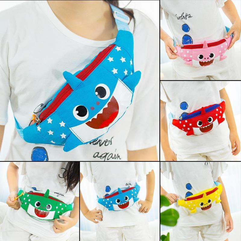 7ea6fd7771b40 Multi Colors Kids Fanny Pack Canvas Cute Fashion Boys Girls Shark Hobos  Shoulder Waist Bag Zipper Chest Crossbody Bags Z95-in Waist Packs from  Luggage ...