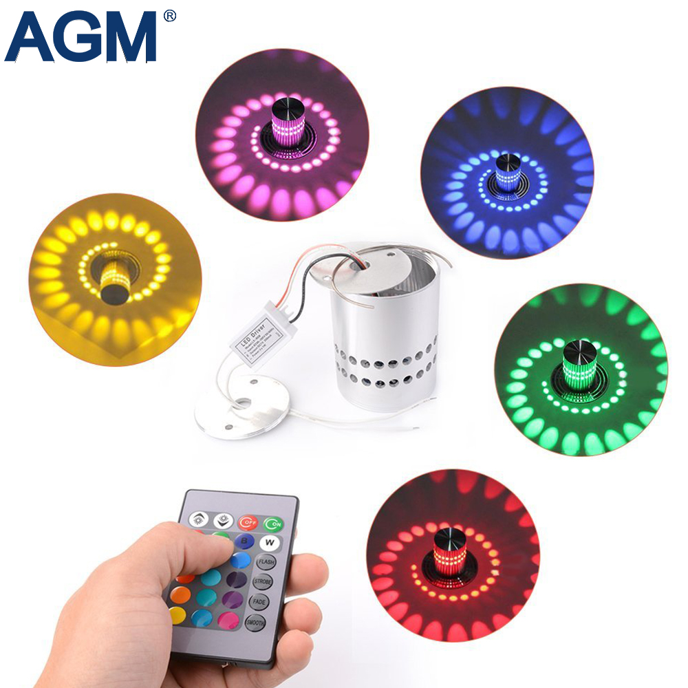 Romantic Led Rgb Wall Light Creative Decoration Lamp Luminous Mini Ir Remote Control Art Gallery Lighting For Corridor Bedroom Party #20