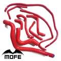 8 kolorów oryginalne Logo 9 sztuk wąż silikonowy do Volv 850T5/850T5R/S70/V70 92-98 czerwony