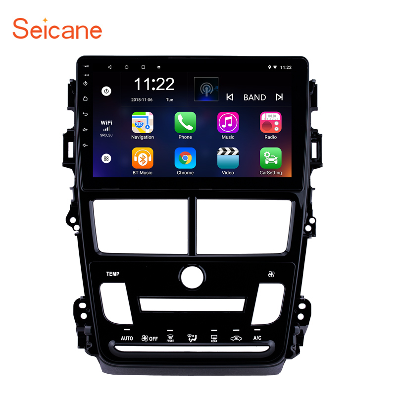 Seicane 9 2Din Android 8.1 GPS Navigation Car Radio Multimedia Player Wifi Head Unit For 2018 Toyota Vios Auto Air ConditionerSeicane 9 2Din Android 8.1 GPS Navigation Car Radio Multimedia Player Wifi Head Unit For 2018 Toyota Vios Auto Air Conditioner
