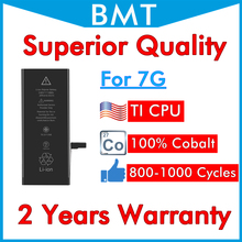 BMT מקורי 20 pcs מעולה איכות 1960 mAh סוללה עבור iPhone 7 7G החלפת 100% קובלט תא + ILC טכנולוגיה 2019