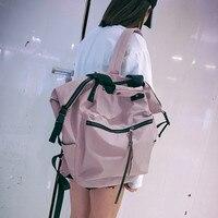 Korean Ulzzang Backpack Fashion Girl High Capacity Backpack Joker Preppy Style Studeng School Bag Leisure Simple Nylon Backpack