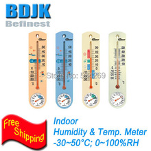 Colorful Indoor Moisture Meter and Hygrometer & Thermometer with Clear Scale Measurement